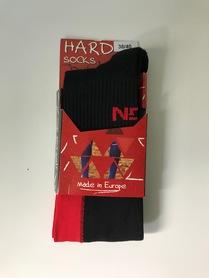 Skarpety biegowe długie HARD - czarno/czerwone